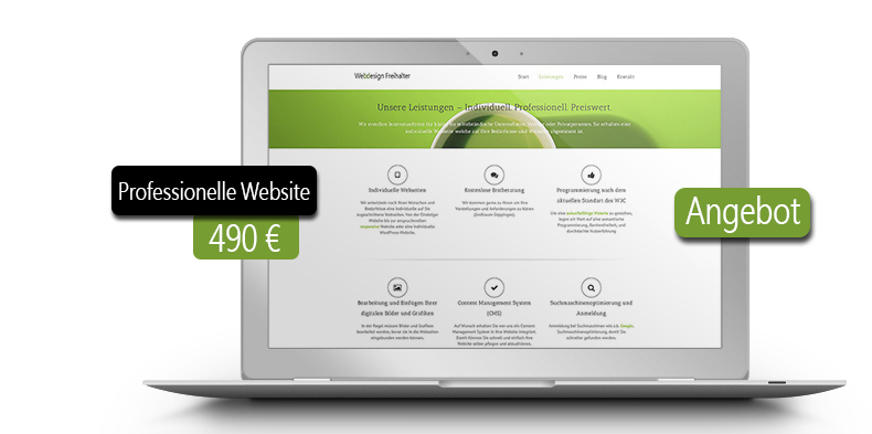 webdesign angebot homepage erstellen webdesign freihalter. Black Bedroom Furniture Sets. Home Design Ideas