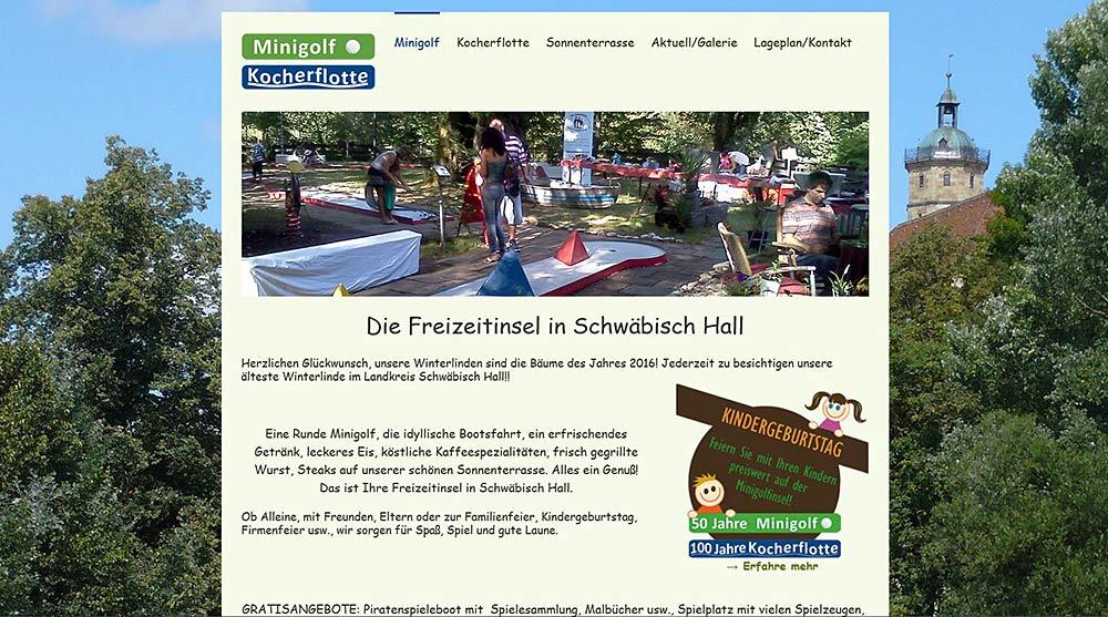 Minigolf - Kocherflotte Schwäbisch Hall